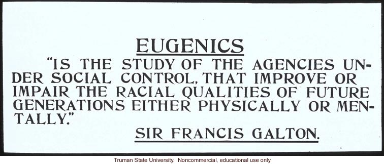 Francis Galton U0026 39 S Definition Of Eugenics    Dna Learning Center